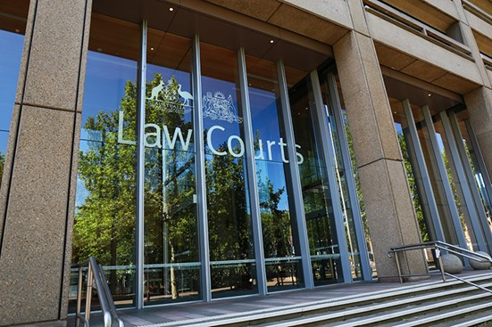 Front view of Australian Law Courts