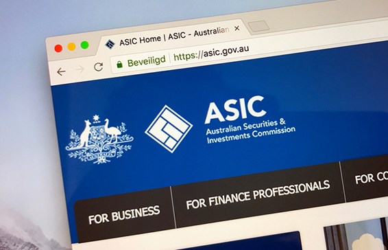 ASIC website